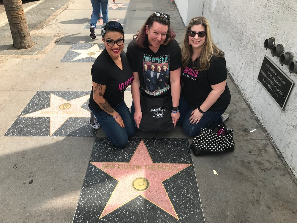 Charlene, Nikki, Kristine, and the New Kids on the Block Star - Hollywood Walk of Fame - Hollywood Blvd