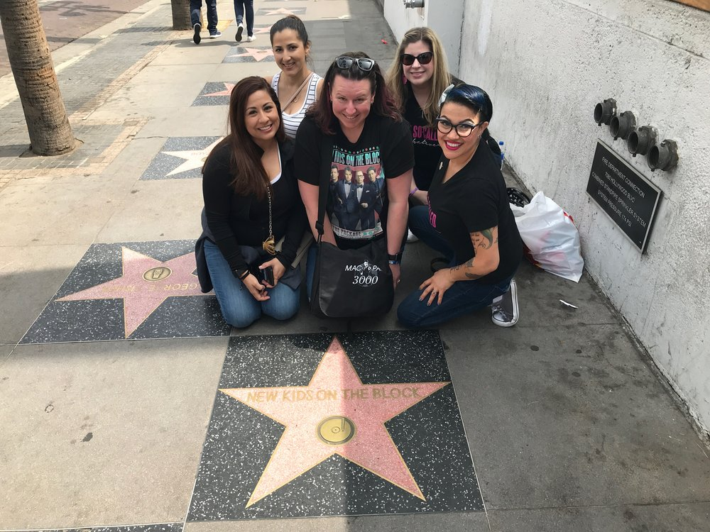 Patty, Kristine, Jenny, Nikki, Charlene, and the New Kids on the Block Star - Hollywood Walk of Fame - Hollywood Blvd