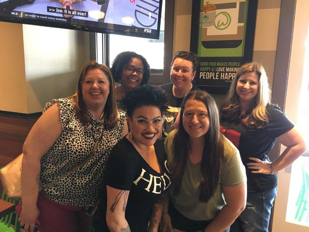 New Friends at Wahlburgers - Elle, Sandy, Nikki, Kristine, Charlene, Mandy (Photo by Charlene)