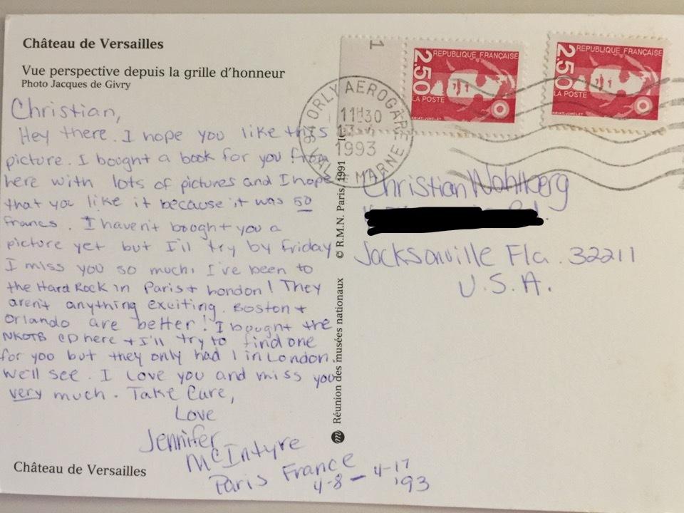 Back of Postcard #1