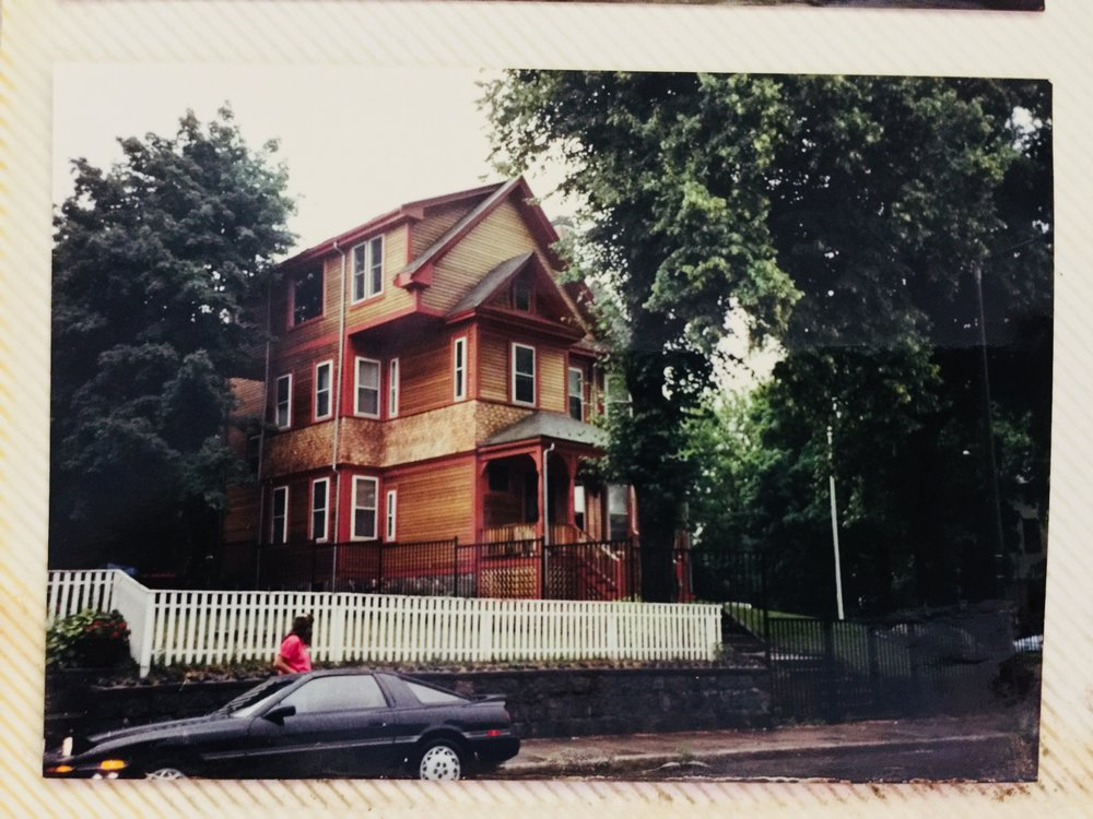 New Kids houses... her trip to Boston 1991 (My photo album got left in heat at some point during a move and some pics melted)