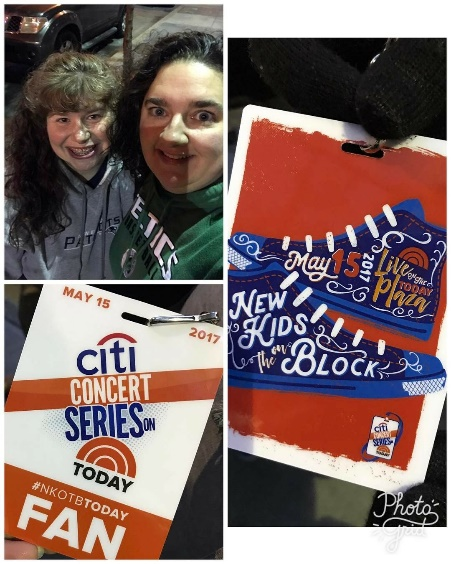 Amy and I on the streets of NYC to see the guys on the Today Show in 2017