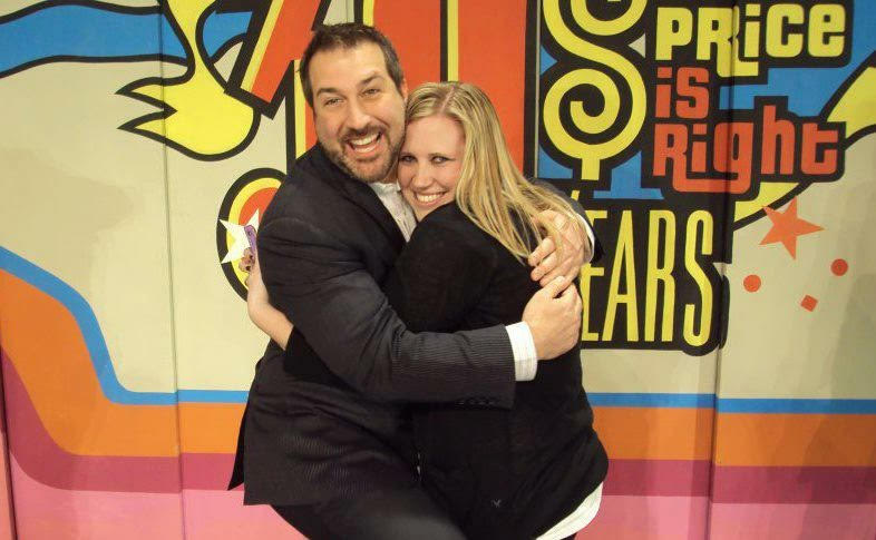 Stephanie with Joey Fatone on The Price is Right 2012