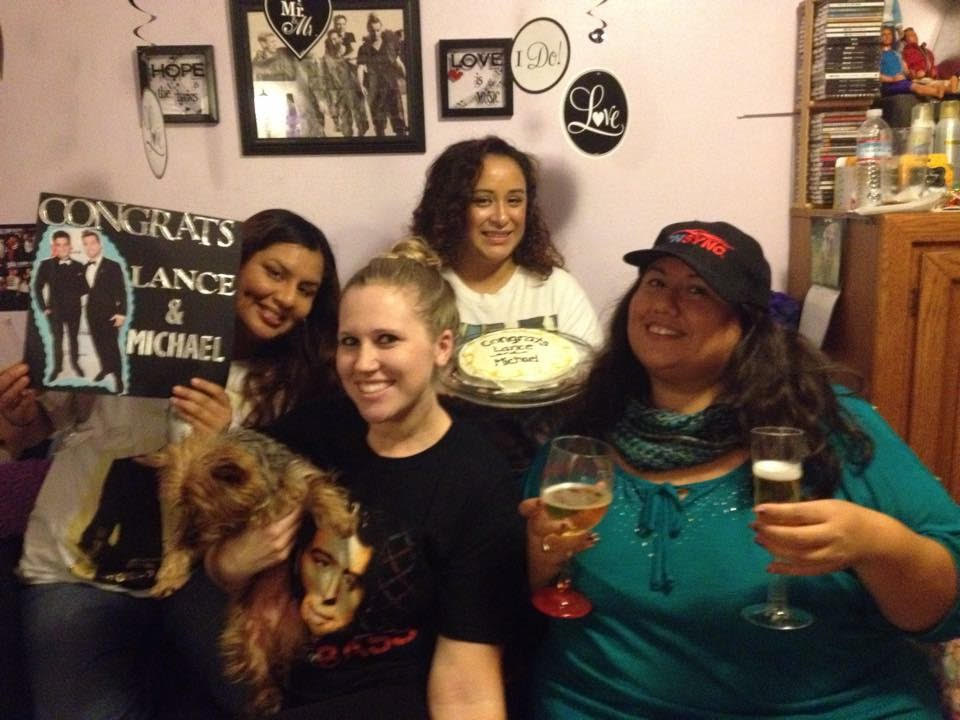"Stephanie and her friends celebrating ""NSYNC Nights"""
