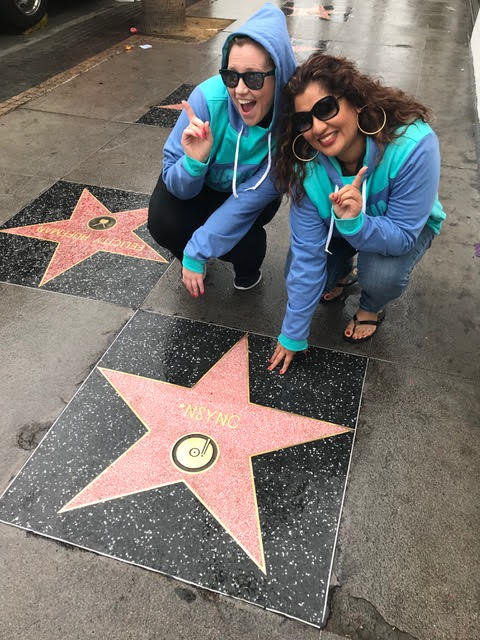 NSYNC Hollywood Blvd Star - Nikki is jealous of those NSYNC hoodies!