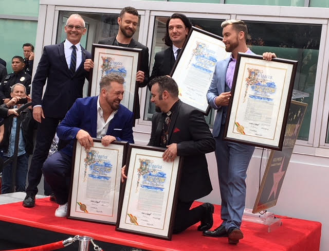 NSYNC WOF Star Ceremony