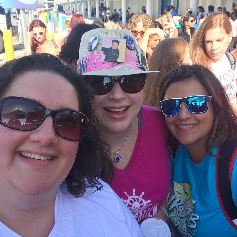 Getting in line with Kristine and Leilani