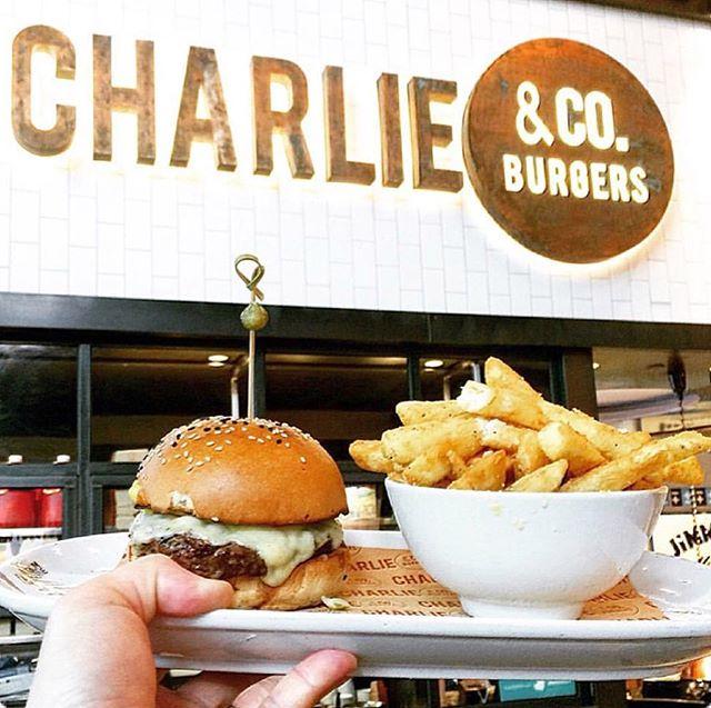 Flipping Burgers until 7pm Emporium Melbourne. 🍔🍟 #charlieandcoburgers #emporiummelbourne #schoolholidays #melbourneeats #burger 📷 @noah.emporium.melbourne