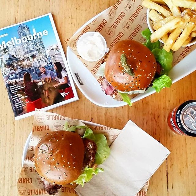 What's on your Melbourne Itinerary? #charlieandcoburgers #melbourneeats #melbourne #bestcityintheworld #burgertime #burgersofmelbourne 📷 @happylittlesquares_