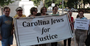 CJJ-ers gather in Raleigh for a Moral Monday demonstration