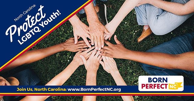 """Momentum is building across the country to protect LGBTQ young people from so-called """"#conversiontherapy"""" – and now, we're fueling the conversation in North Carolina! We're proud to be a supporter of @BornPerfectNC – learn more and find out how you can support, love, and affirm LGBT young people across NC: https://bornperfectnc.org/pledge.html #LGBT #BornPerfectNC #BornPerfect #NCGA #northcarolina #queer #gay #lesbian #bisexual #transgender #trans #equality"""
