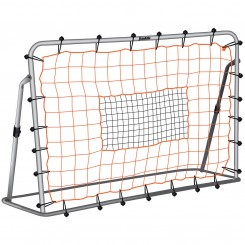 "FEATURES  Whether practicing solo or with a few buddies, this rebounder will keep your little kickers on the path to Park District greatness. They will practice accuracy and ball control with our exclusive design that adjusts angles for various ball return options. The rebounder also features an all-weather mesh net and bungee cord attachment system that will withstand the elements and superhuman kicks from your prodigy. The heavy-duty steel tubing with precision fit locking pins and ground stakes offer support and easy assembly.   DOWNLOAD INSTRUCTION MANUAL PART 1    DOWNLOAD INSTRUCTION MANUAL PART 2   Rebounder assembles to 6' wide x 4' high  Exclusive design adjusts angles for various ball return options Heavy duty powder coated steel tubing, 1.25"" OD  Precision fit locking pins for secure and easy assembly  All weather 4"" x 4"" target net with bungee cord attachments  (4) Galvanized ground stakes  Excellent for backyards, league and club practices"