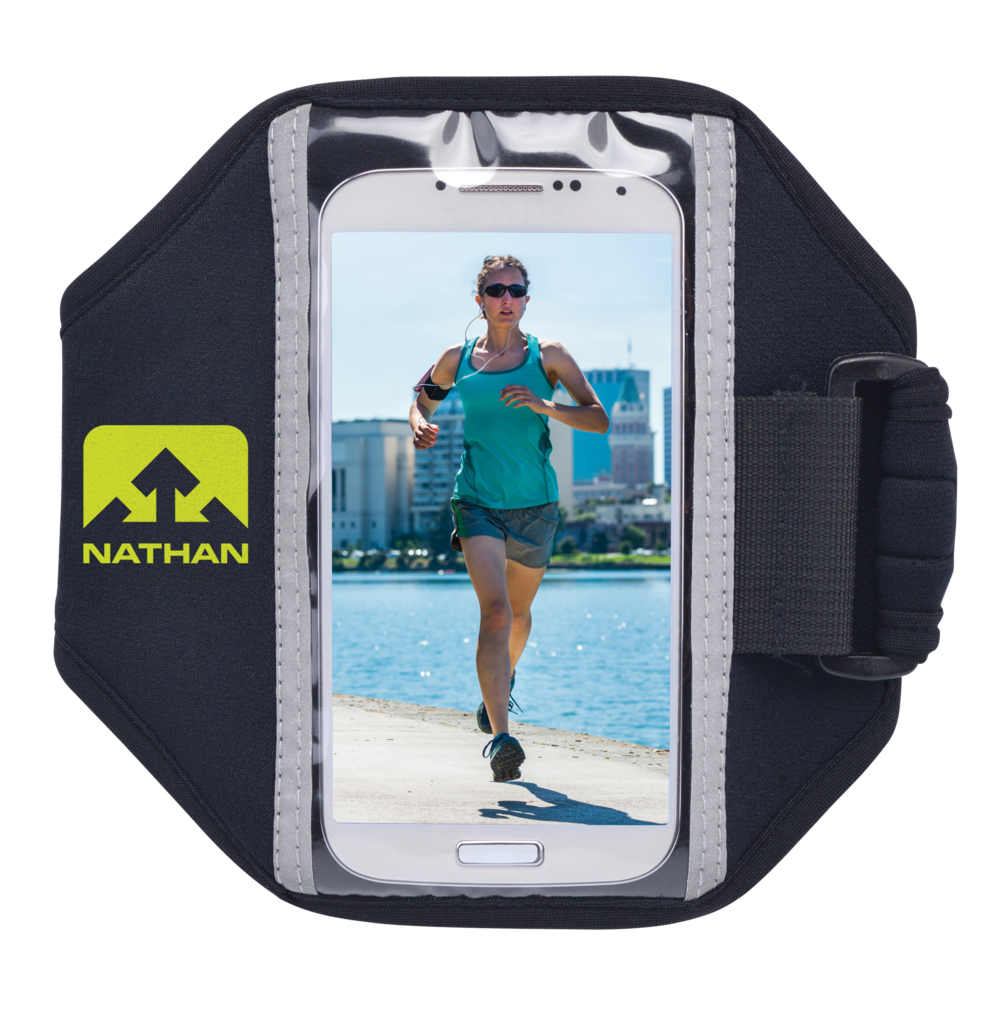 Features & Benefits  Universal armband offers a lightweight way to carry music on your arm  Ultra-lightweight, water-resistant neoprene keeps many types of phones or music devices protected  Reflective hits for visibility under low-light conditions  Comfort-fit for smooth feel on skin