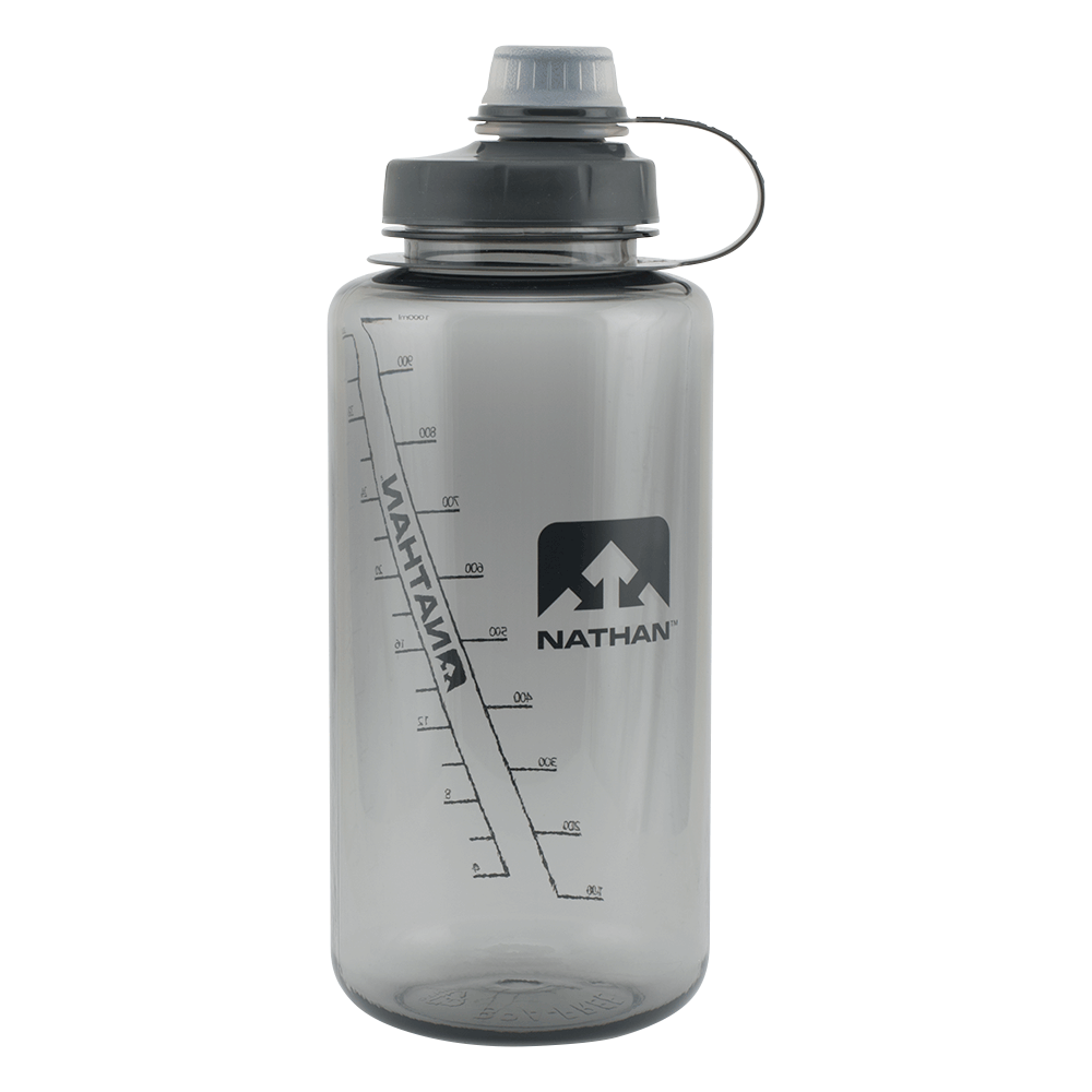 Features & Benefits  Hydrate - and rehydrate - throughout the day with this ice-cube ready bottle, featuring a tethered, narrow-mouth, screw-top lid for easy carrying, sipping, and refilling on-the-go.  Sip-friendly narrow spout features removable silicone nozzle for easy cleaning  Leak-proof lid screws on tightly  Wide mouth for easy cleaning and filling  Tethered lid stays attached to the bottle  Dishwasher safe (top rack only)  BPA-free Eastman Tritan® with odorless and tasteless technology  Size: 34oz/1 Litre