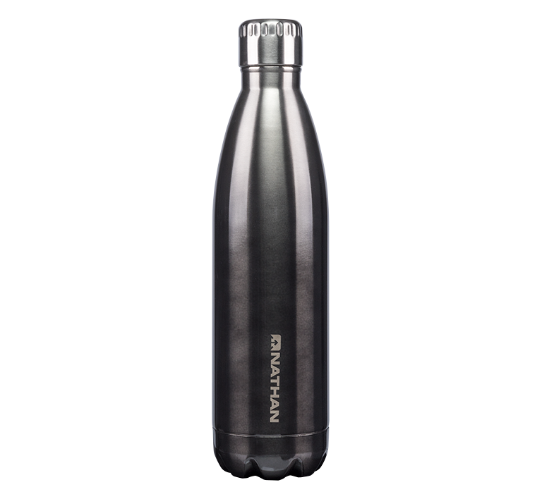 Features & Benefits  These bold and beautiful steel bottles will be the envy of your social or running circle. The quality vacuum stainless steel is 18/8 double-wall insulated, which is perfect for keeping cold liquids cold and hot liquids for a very long time.  Ombré-patterned double-wall insulated stainless steel bottle  18/8 double-wall insulated stainless steel  Keeps cold liquids cold for 24 hours, hot liquids hot for 6 hours  Zero condensation or sweat on bottle  BPA and lead-free  Cup-holder friendly  Fits ice cubes