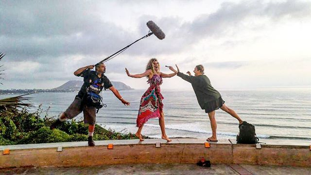 Behind the scenes in Lima Peru have some fun with @kriszmakeup & Frank. Stunning backdrop and incredible beauty found in Peru in all Aspects 🙌🏼🙏🏼🙌🏼
