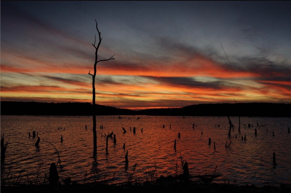 Truman Lake at sunset