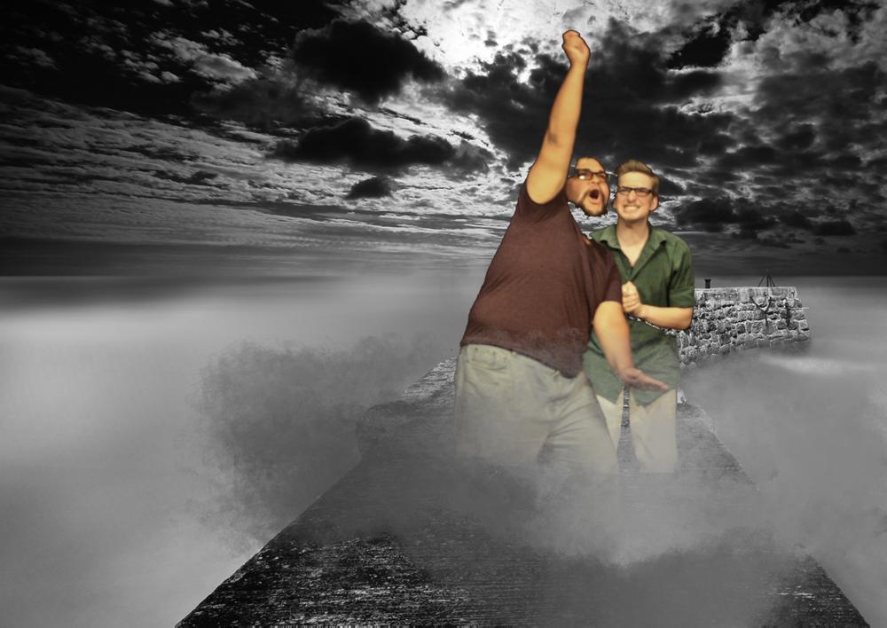 Joe and Dan on misty bridge.png