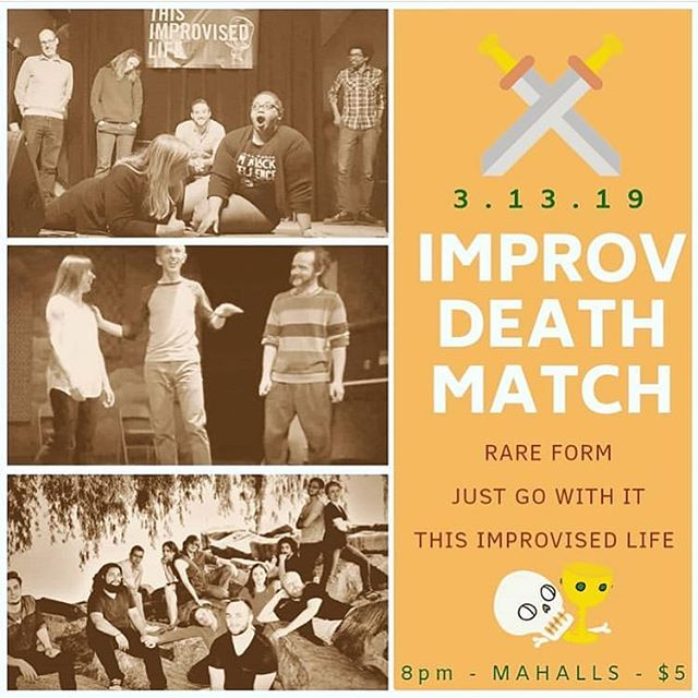 We're performing at @improvdeathmatch this Wednesday at Mahall's in Lakewood! • • • • • • • • #improv #comedy #comedyclub #standupcomedy #mahalls #improvcomedy #cleveland #nightout #thingstodo #cle #improvdeathmatch