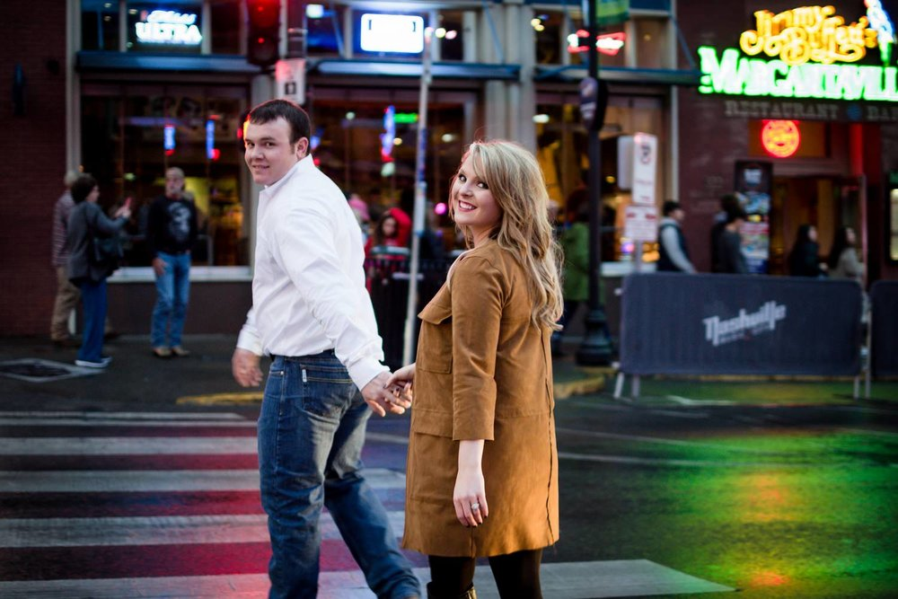 Nashville-wedding-photographers-Downtown-Nashville-Engagement-Broadway-Night