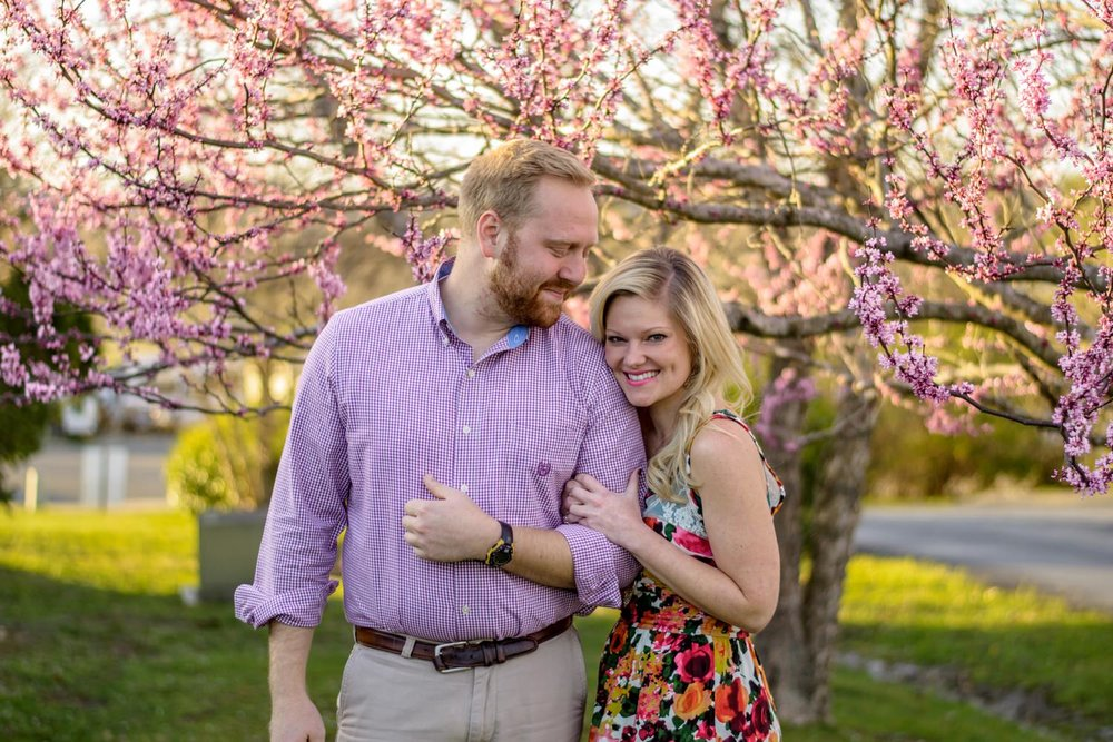 Nashville-wedding-photographers-Spring-Nashville-Engagement-Cherry-Blossoms