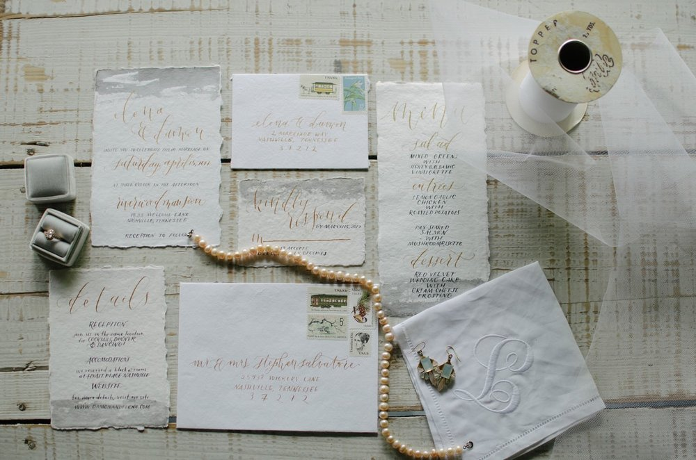 Nashville-wedding-photographers-Riverwood-Mansion-Invitation-Suite-Calligraphy-Middle-Tennessee