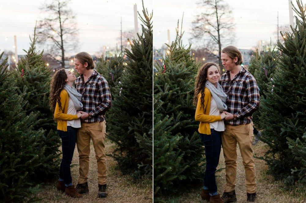 Tom-Hannah-Winter-Christmas-Tree-Farm-Engagement-Session-Nashville-Wedding-Photographers+12
