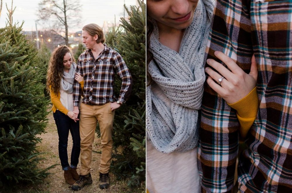 Tom-Hannah-Winter-Christmas-Tree-Farm-Engagement-Session-Nashville-Wedding-Photographers+14