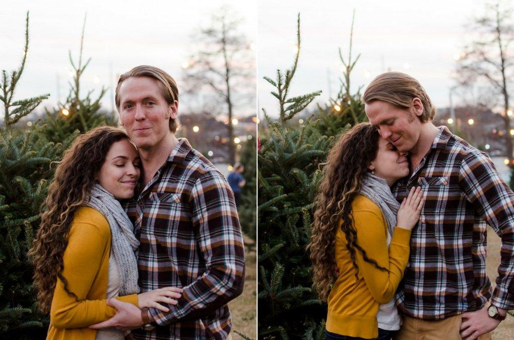 Tom-Hannah-Winter-Christmas-Tree-Farm-Engagement-Session-Nashville-Wedding-Photographers+13