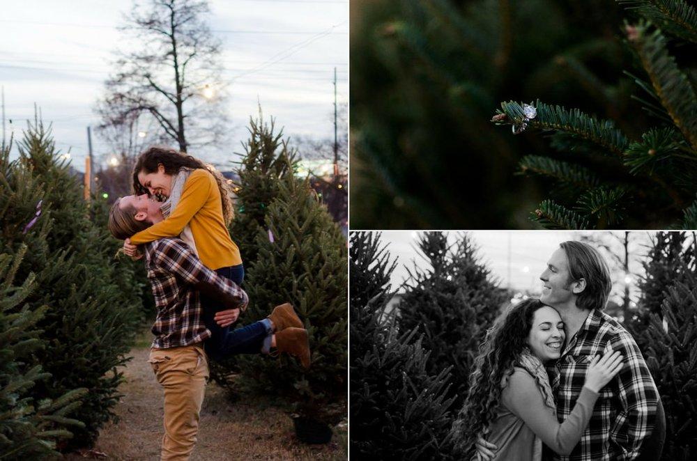 Tom-Hannah-Winter-Christmas-Tree-Farm-Engagement-Session-Nashville-Wedding-Photographers+17
