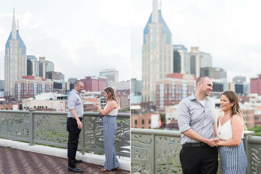 Downtown-Nashville-City-Surprise-Proposal-on-Pedestrian-Bridge-Engagement-Session-Nashville-Wedding-Photographer+4