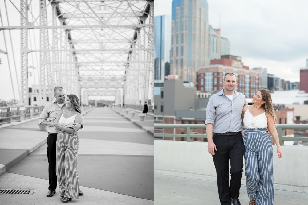 Downtown-Nashville-City-Surprise-Proposal-on-Pedestrian-Bridge-Engagement-Session-Nashville-Wedding-Photographer+10