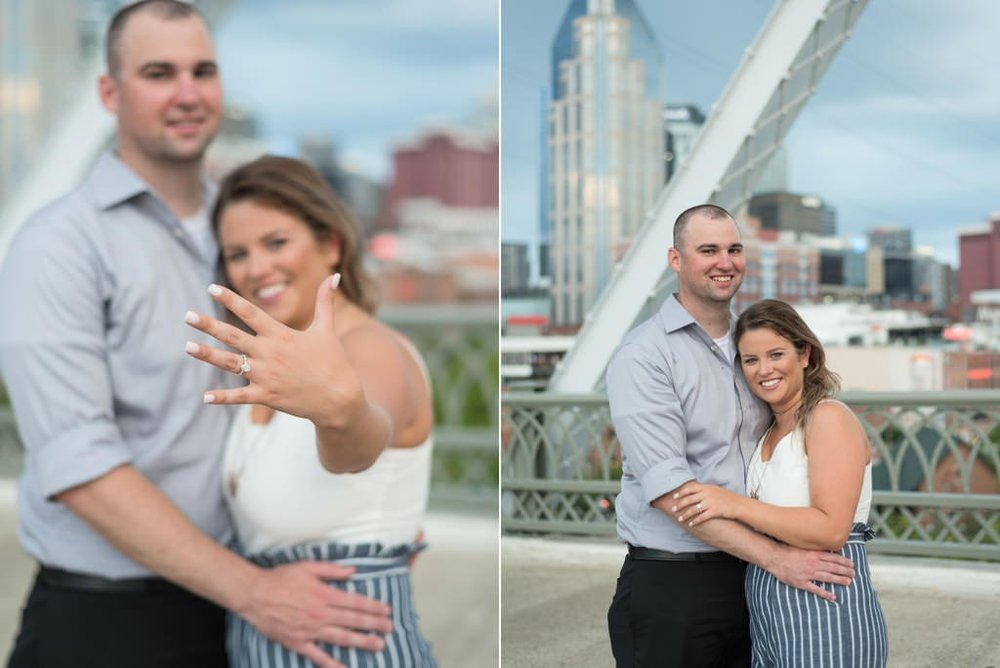 Downtown-Nashville-City-Surprise-Proposal-on-Pedestrian-Bridge-Engagement-Session-Nashville-Wedding-Photographer+19
