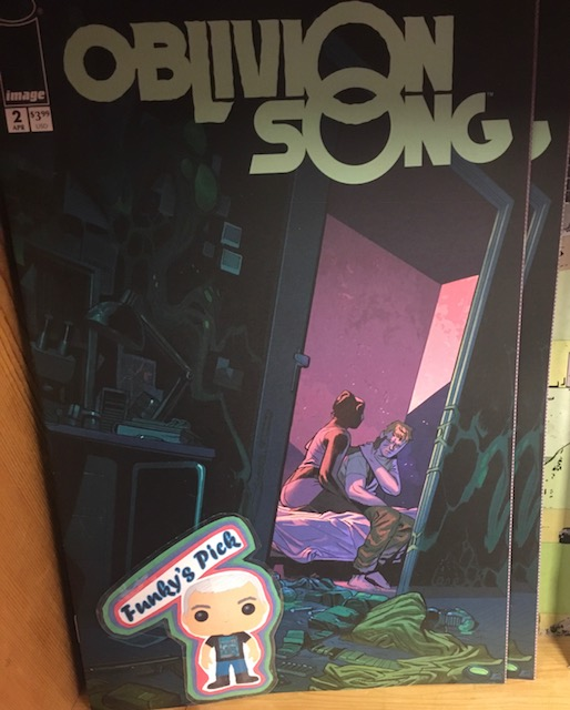 Oblivion Song #2 - Funky's PickWriter: Robert KirmanArtist: Lorenzo de FeliciColorist: Annalisa LeoniNathan's obsession with Oblivion has put a strain on every aspect of his life. His love for Heather is really put to the test now that he's closer than he's ever been to finding what he's truly looking for.