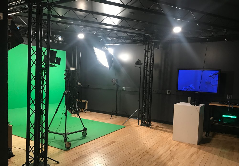 A video studio among the many VR, XR, AR-capable labs