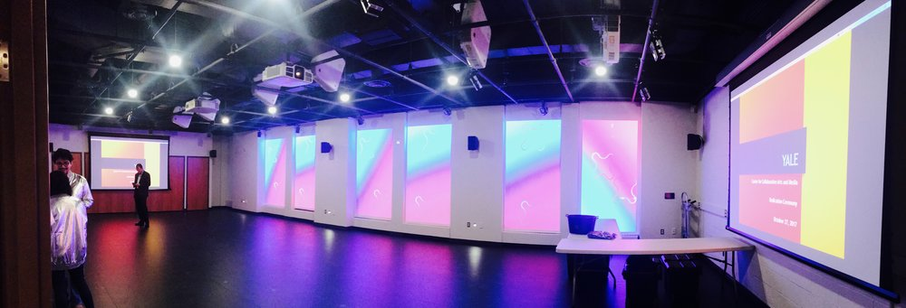A 1,400 square foot research lab equipped with motion-capture system, interactive projection and XR experiential platform
