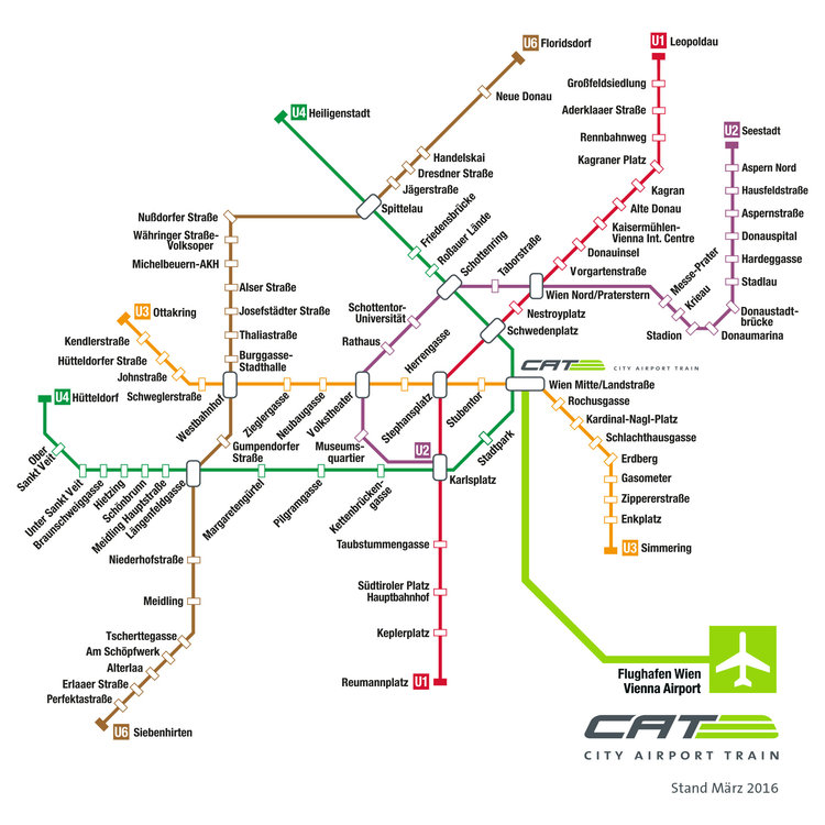 Cat Vienna City Airport Train Transfer Guide Vie Train To The