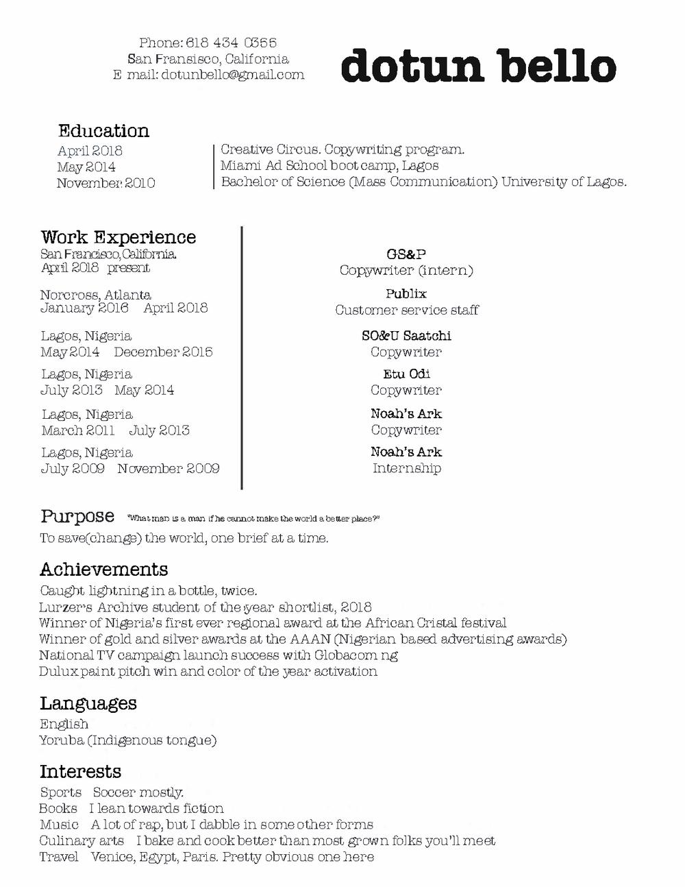 Resume Db