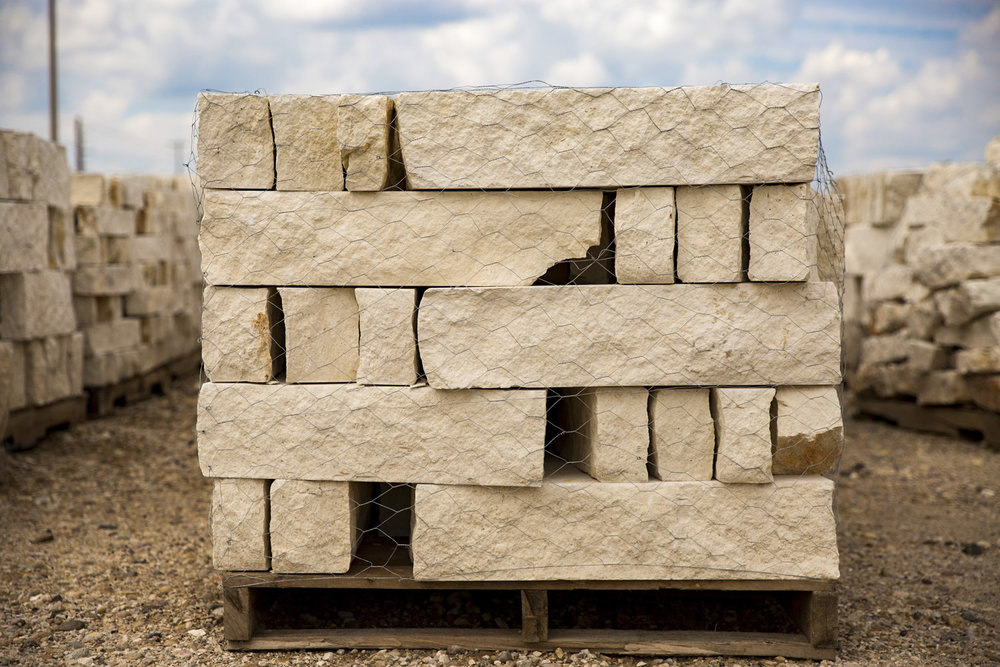 Building Stone   Description- Natural stone that has been cut into different sizes to acocomodate any builders needs.  Usage- Most commonly used for exterior walls, fireplaces, and fireplace hearths.