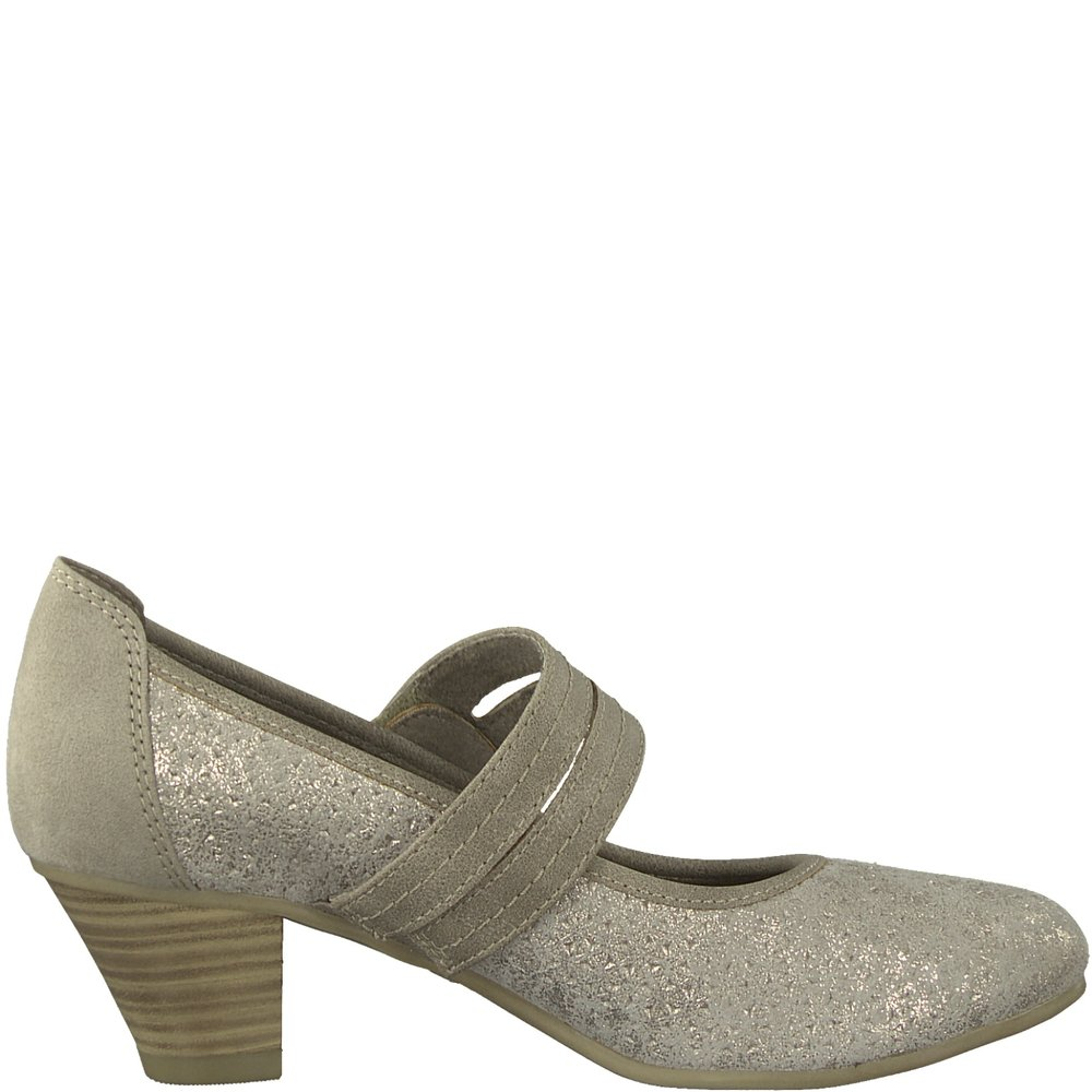 c9f479231aa9 24332-20-350 Taupe Metal — Jana Shoes Canada