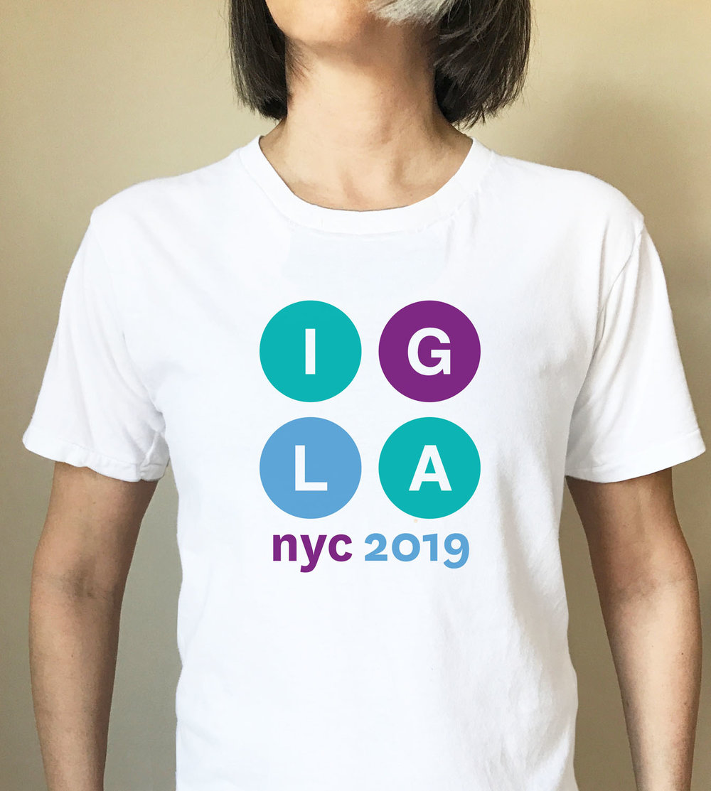 Women's white fitted t-shirt with IGLA 2019 graphic  $16