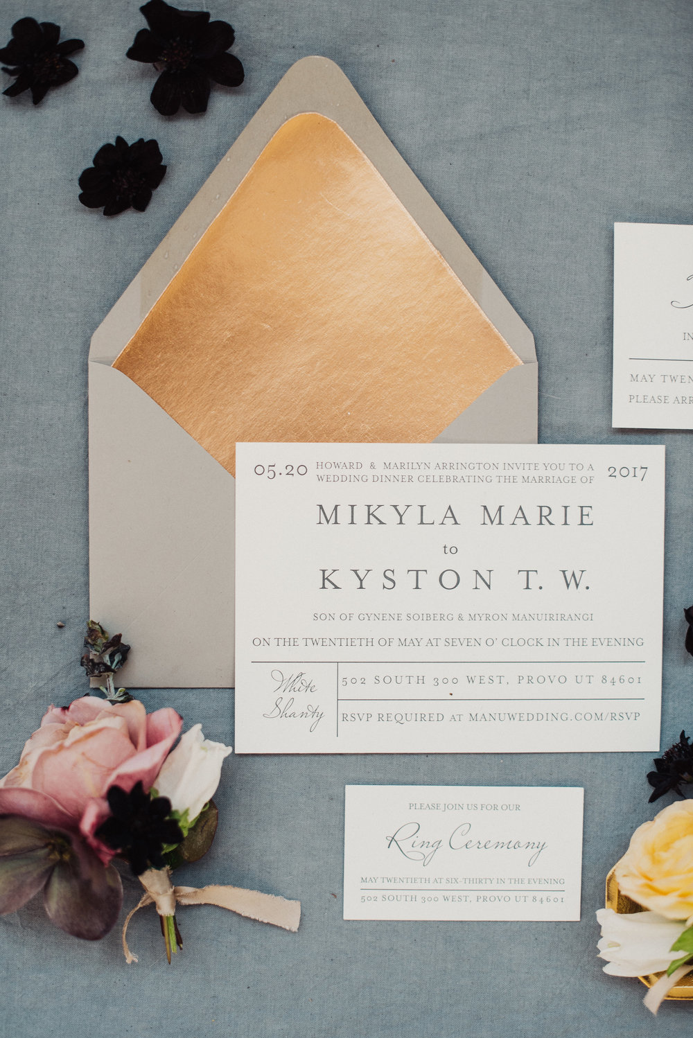 Wedding Invitations & Calligraphy - Ink & Press Co. Photo by Eden Strader