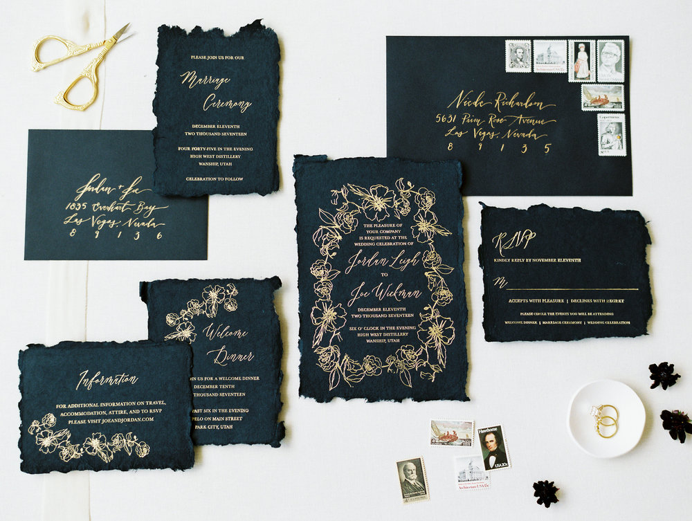 Wedding Invitations & Calligraphy - Ink & Press Co. Photo by Jen Corbett - As Ever Photography