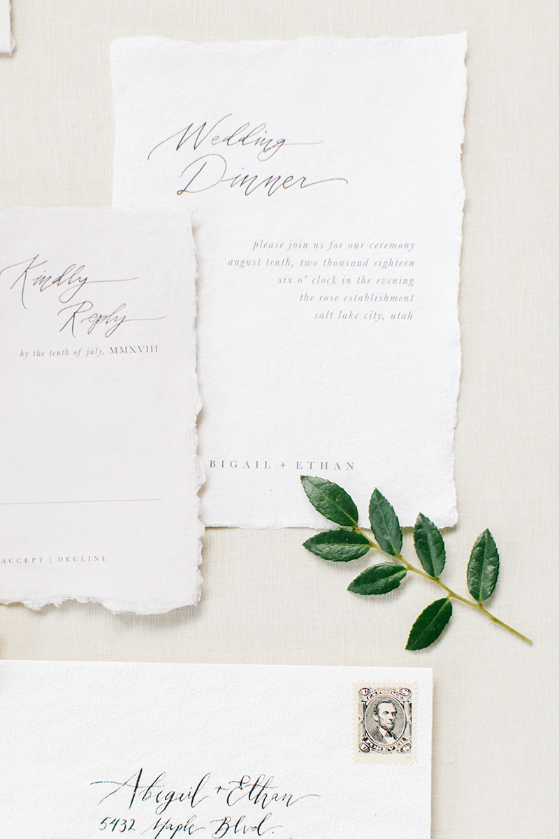 Wedding Invitations & Calligraphy - Ink & Press Co. Photo by Kenzie Victory