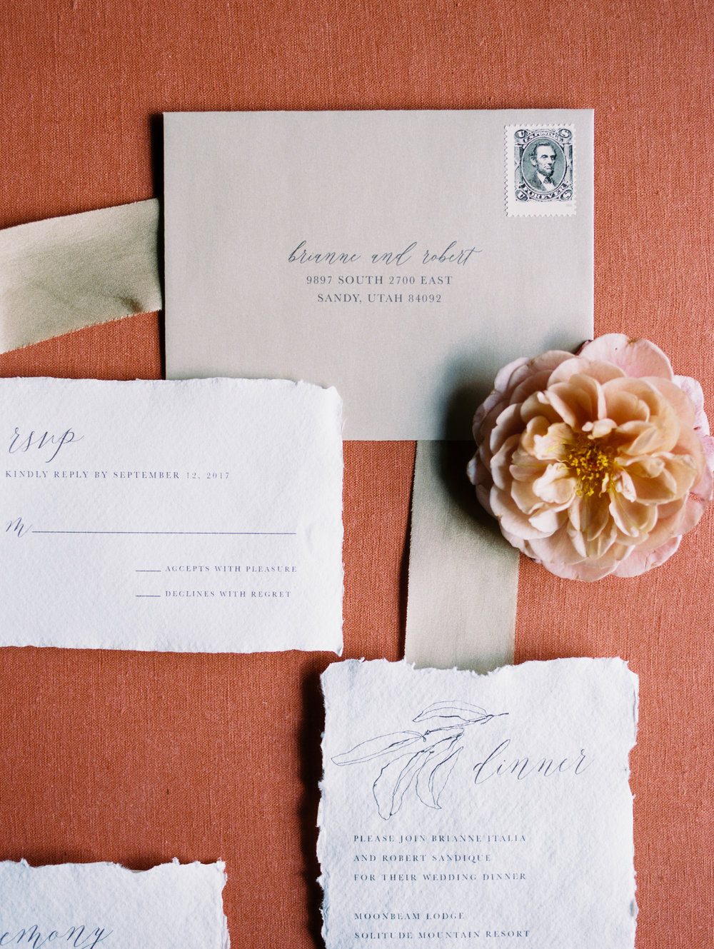 Wedding Invitations & Calligraphy - Ink & Press Co. Photo by Megan Robinson
