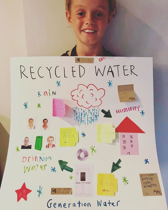 Ollie Toon had to do a Science project on what he loves about Science. He based his project on Generation Water! This is just the most amazing and humbling thing to see and makes us super proud! Our younger generation are our future and are super aware of the changes that need to be made to make our world a better place! Thank you Olie for doing us proud and passing on the message for a better future, you're a legend! #savewater #drinkair #noplastic . .  #water #air #waterfromair #science #project #lovescience #technology #generation #ourfuture #ourworld #change #makethechange #children #legend #future #proud #innovation #message #solutions