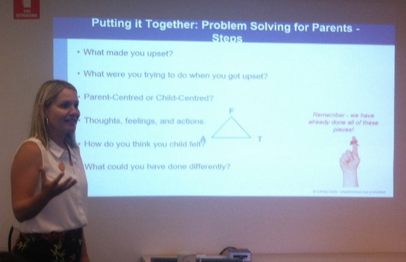 Sarah talking about the Problem Solving for Parents steps