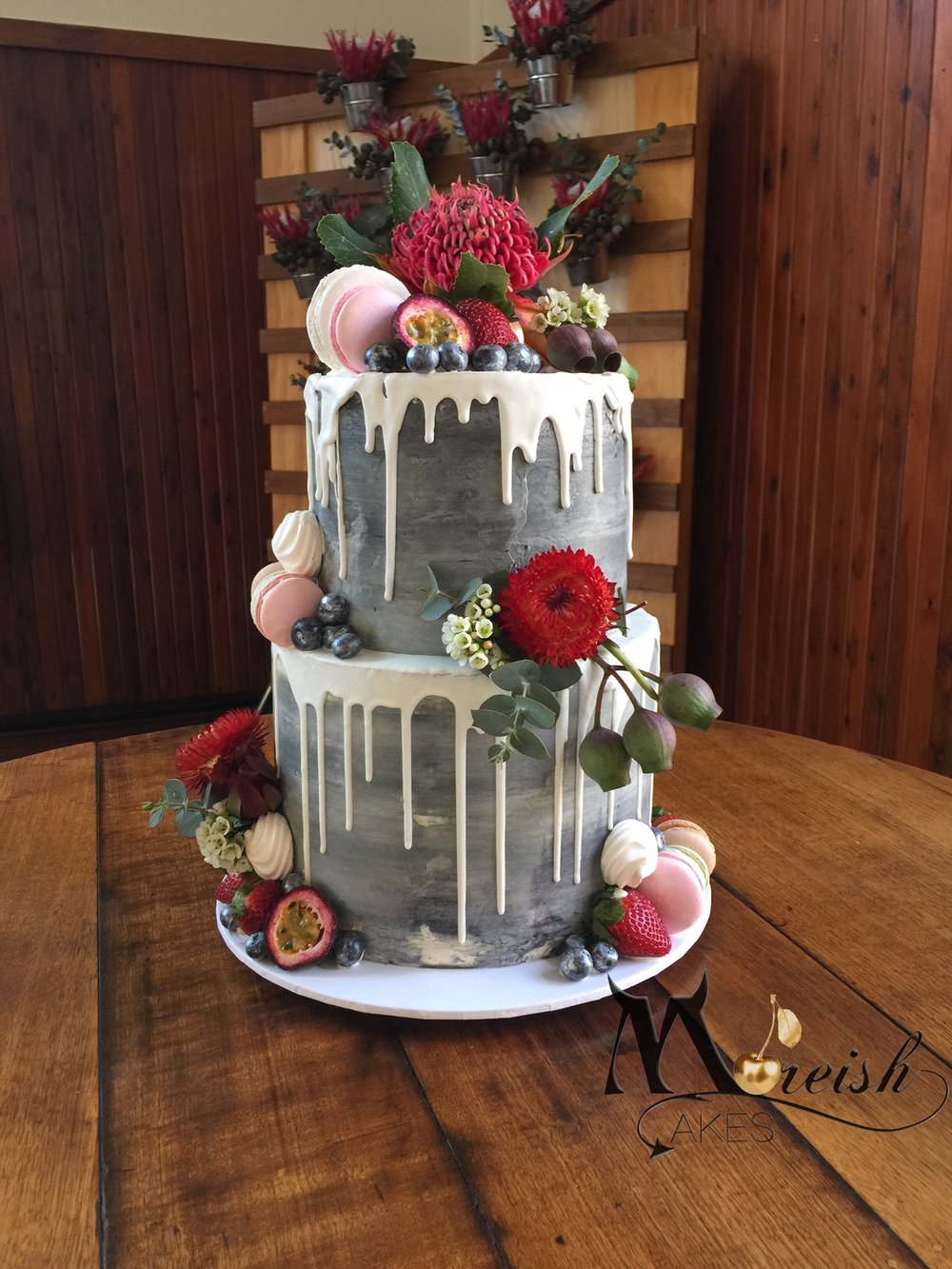 Married At First Sight Season 5 2018 Monochrome Drip Cake With