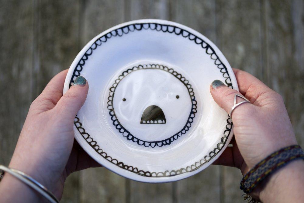 Screaming Tea Plate Isobel Higley