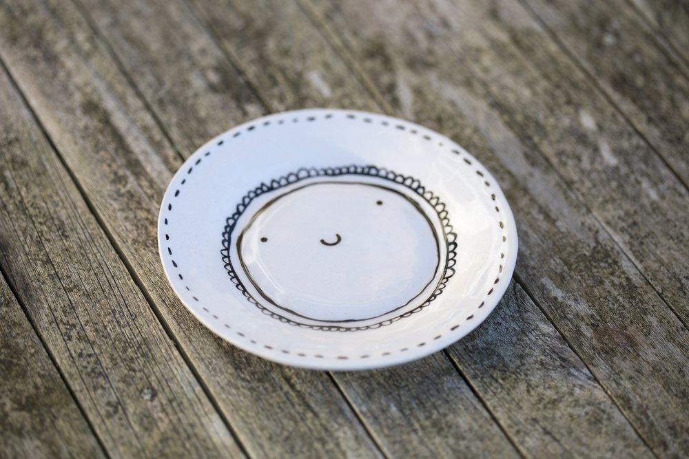 Happy Tea Plate Isobel Higley